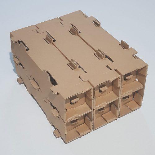 cutii diverse din carton ondulat